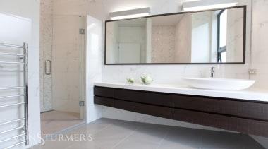 Lucerne Road - Lucerne Road - bathroom   bathroom, bathroom accessory, bathroom cabinet, floor, interior design, property, room, sink, gray, white