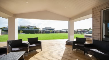 Vaulted covered outdoor living space Built by Fowler estate, house, interior design, outdoor structure, porch, property, real estate, window