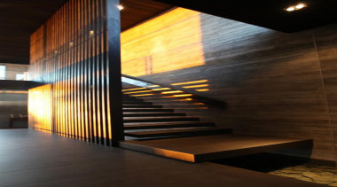 Westmere House - Westmere House - architecture   architecture, ceiling, daylighting, interior design, light, lighting, lobby, stairs, wall, wood, brown