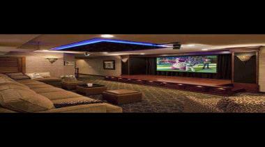 must have HUGE TV in the TV room ceiling, interior design, lighting, black, brown