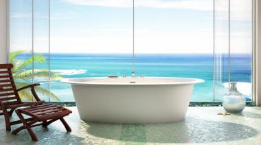 ora oval fs recadrer.jpg - ora_oval_fs_recadrer.jpg - bathroom bathroom, bathtub, interior design, plumbing fixture, product design, sea, swimming pool, table, water, white