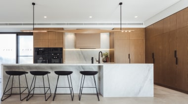 Hillam Architects architecture, cabinetry, countertop, cuisine classique, floor, furniture, house, interior design, kitchen, real estate, table, gray, white