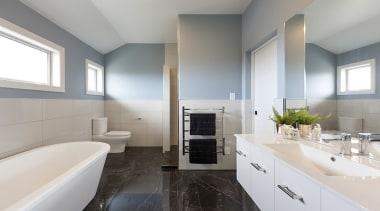 Landmark Homes Boulevard Design Ensuite - Landmark Homes architecture, bathroom, interior design, real estate, room, gray