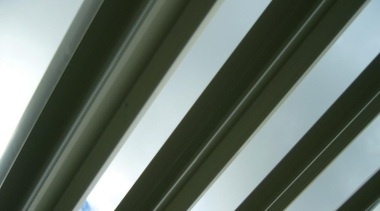 The beautiful 200mm Louvre Blades in an open angle, daylighting, light, line, material, metal, sky, structure, gray, brown