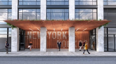 AA Studio is currently in the process of architecture, building, facade, gray