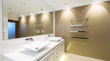 Winner Bathroom Design of the Year 2013 Western architecture, bathroom, ceiling, countertop, floor, interior design, product design, room, sink, white, brown