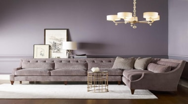 """""""Upholstery helps set the foundation for how a chair, coffee table, couch, furniture, home, interior design, living room, loveseat, product design, room, sofa bed, table, wall, gray"""