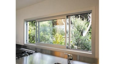 Horizontal sliding windows are ideal where ease of daylighting, glass, home, interior design, property, real estate, sash window, window, window covering, white, gray