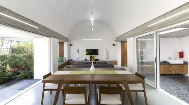 LIJO.RENY.architects, Kerala See more of this project ceiling, daylighting, house, interior design, property, real estate, white