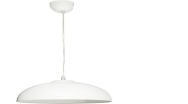 FeaturesThe Catena is a classical range of hemispherical ceiling fixture, light fixture, lighting, product design, white