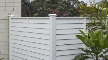 theblock2014087.jpg - theblock2014087.jpg - fence | home fencing fence, home fencing, outdoor structure, picket fence, siding, gray