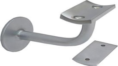 Concealed FixSolid BrassSuits Square and Round RailsFixings SuppliedSatin hardware, hardware accessory, product design, white, gray
