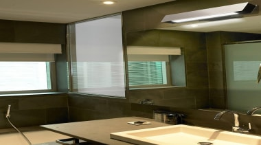 Belysa from La Creu, Spain - Wall Lights architecture, bathroom, ceiling, daylighting, glass, interior design, room, window, window covering, brown