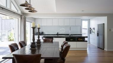 IMGL0263-4 - Dingle Road - floor | house floor, house, interior design, kitchen, living room, real estate, room, wood flooring, gray, white