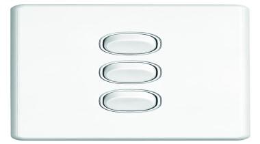 Slimline Series triple switch White - SC2033 - light switch, product, white