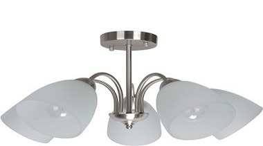 FeaturesThe Elisa range is a clean, simple and ceiling fixture, light fixture, lighting, product design, white, gray