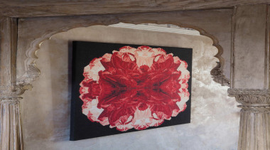 The Poppy Night wallhanging is inspired by macro art, flower, modern art, picture frame, gray