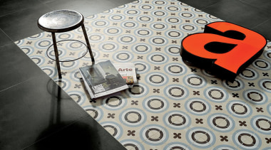 Each tile is identical and collectively combine to design, font, pattern, product, gray, black