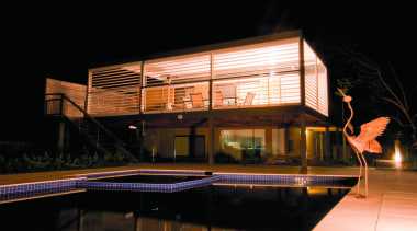 Sun Louvre systems for your home and garden architecture, building, facade, home, house, lighting, night, property, reflection, roof, black