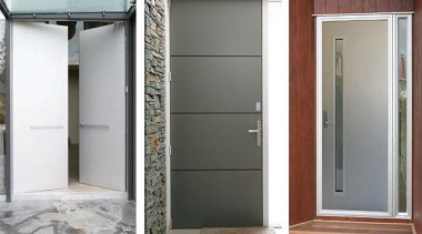 The FIRST® Plasma door is covered both sides door, gray, white