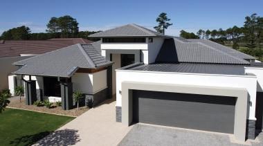 Monier Concrete tiles - Elabana - Monier Concrete building, daylighting, elevation, estate, facade, home, house, property, real estate, residential area, roof, siding, gray