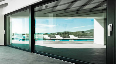 LSQ231 - Single Solid Internal Lift-up Sliding Door architecture, door, glass, house, interior design, window, white, black, gray