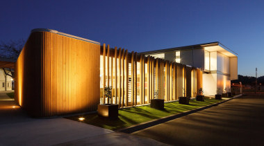 Coffey Education & Artsproperty Award - Hutt International architecture, building, condominium, corporate headquarters, estate, facade, home, house, lighting, mixed use, property, real estate, residential area, blue