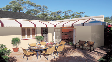 Add a short description to your Collection - awning, backyard, canopy, estate, home, house, outdoor structure, patio, property, real estate, roof, shade, white