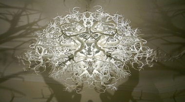 Inspired by the illustrations of German biologist, naturalist chandelier, light fixture, lighting, lighting accessory, symmetry, brown