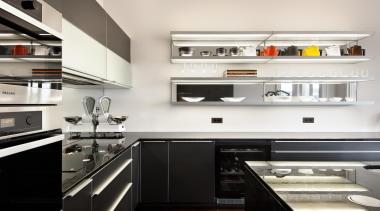 New Zealand Renovation Kitchen Designer of the Year cabinetry, countertop, cuisine classique, interior design, kitchen, white, black