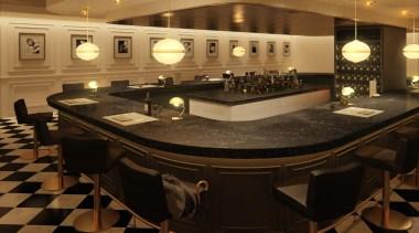 caesarstone classico 5100 vanilla noir bar.jpg - caesarstone_classico_5100_vanilla_noir_bar.jpg countertop, flooring, function hall, interior design, black, brown