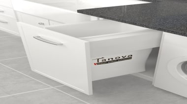The Tanova Deluxe range offers pull out laundry angle, floor, furniture, product, product design, table, tap, white
