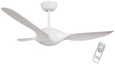 """FeaturesThe Aero has a 56"""" (1400mm) blade sweep ceiling fan, home appliance, mechanical fan, product design, wing, white"""