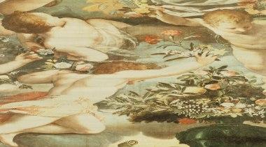Venetian Damask Range - art | mythology | art, mythology, painting, brown, orange, yellow