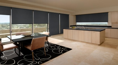 luxaflex roller blinds - luxaflex roller blinds - countertop, floor, flooring, interior design, kitchen, real estate, room, brown, black