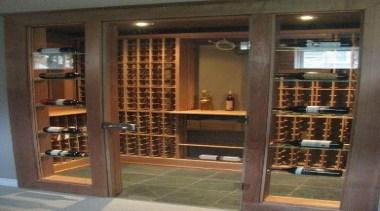Modern Wine Cellar Ideas - Modern Wine Cellar bookcase, furniture, liquor store, shelving, wine cellar, winery, brown