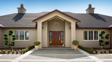 d2x4023 - building | cottage | elevation | building, cottage, elevation, estate, facade, home, house, property, real estate, residential area, roof, siding, window, gray