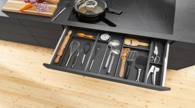 AMBIA-LINE inner dividing system – organization at its floor, furniture, product design, table, tool, orange, black