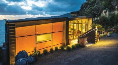 2013 ADNZ National Design Awards Winner - New architecture, facade, home, house, property, real estate, roof, shed, black