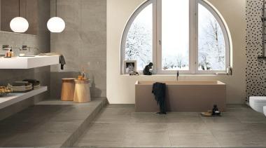 Blendstone pepper bathroom tiles - Blendstone Range - bathroom, ceramic, floor, flooring, interior design, product design, room, sink, tap, tile, wall, gray