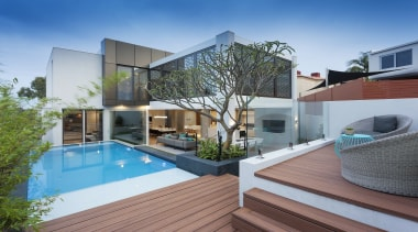Daniel Lomma Design apartment, architecture, condominium, estate, home, house, property, real estate, residential area, roof, swimming pool, gray, teal
