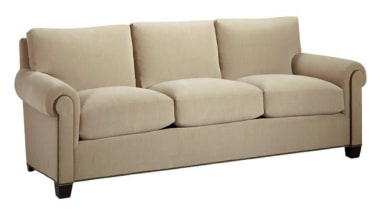 """""""Upholstery helps set the foundation for how a angle, comfort, couch, furniture, loveseat, outdoor furniture, outdoor sofa, product, product design, sleeper chair, sofa bed, studio couch, white"""