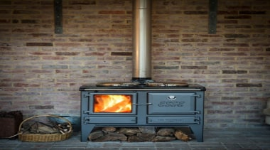 ESSE Ironheart - legs model. Cooking, hot water hearth, home appliance, major appliance, masonry oven, stove, wood burning stove, gray, black, brown