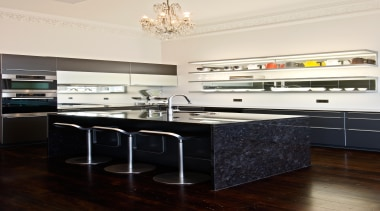 New Zealand Renovation Kitchen Designer of the Year cabinetry, countertop, cuisine classique, floor, furniture, interior design, kitchen, room, black, white