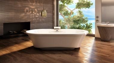 amma 7242 fs narrow base.jpg - amma_7242_fs_narrow_base.jpg - bathroom, bathtub, ceramic, floor, flooring, hardwood, interior design, plumbing fixture, product design, tile, wood, wood flooring, brown