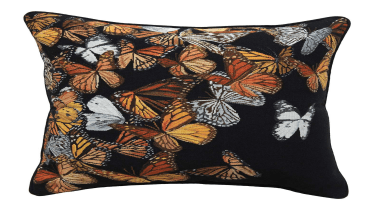 Inspired by an exquisite hand crafted feather butterfly butterfly, cushion, moths and butterflies, pollinator, throw pillow, white, black
