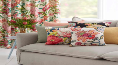 Floranova 6 - Floranova 6 - couch | couch, cushion, duvet cover, furniture, interior design, linens, living room, pillow, textile, throw pillow, gray