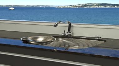 Wellington Kitchen Designer of the Year 2007National Kitchen boat, plumbing fixture, sink, tap, water, watercraft, yacht, gray, black