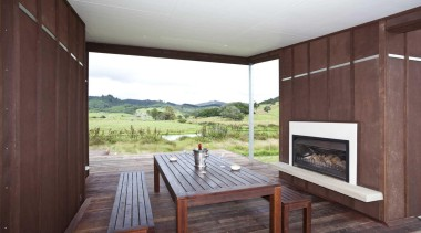 Timber outdoor dining fireplace - Outdoor Dining Fireplace architecture, house, interior design, real estate, gray