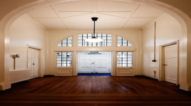 MERIT WINNERSPCA Wellington (4 of 4) - Hawkins architecture, ceiling, daylighting, door, estate, floor, flooring, hall, hardwood, home, house, interior design, lighting, real estate, room, wall, window, wood, wood flooring, orange